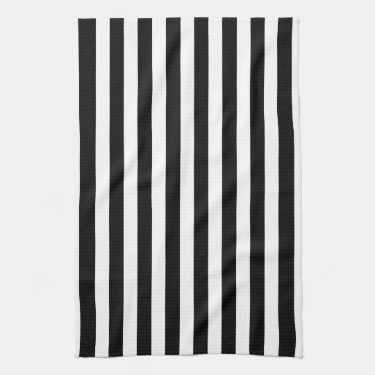 Black And White Cabana Stripe Hand Towel Zazzle Com