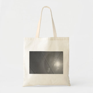 Black and white cables lines budget tote bag