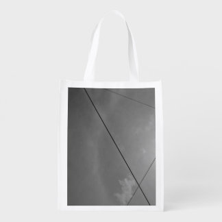 Black and white cables lines grocery bag