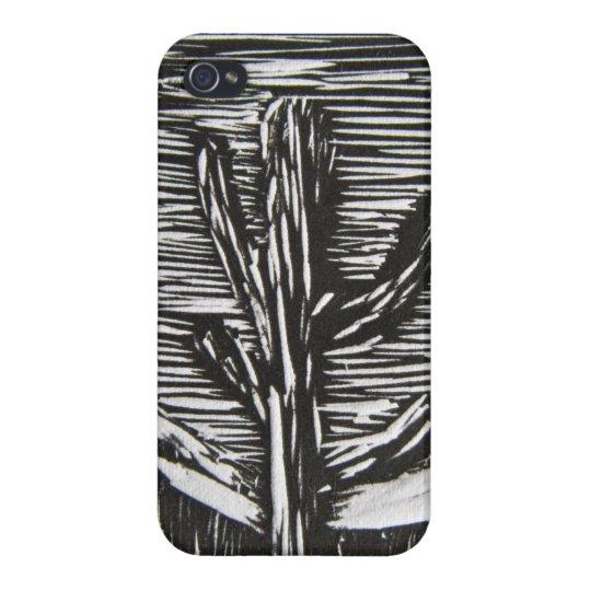 Black and white cactus iphone case