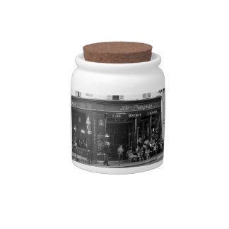 Black and White Cafe in Montmartre, Paris Candy Dish