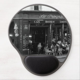 Black and White Cafe in Montmartre, Paris Gel Mouse Pad