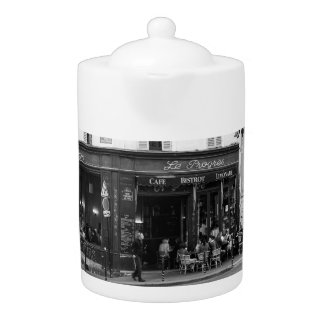 Black and White Cafe in Montmartre, Paris Teapot