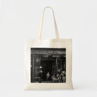 Black and White Cafe in Montmartre, Paris Tote Bag