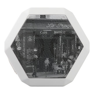 Black and White Cafe in Montmartre, Paris White Bluetooth Speaker