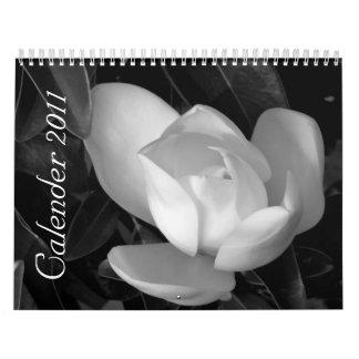 black-and-white Calender 2011 Calendar