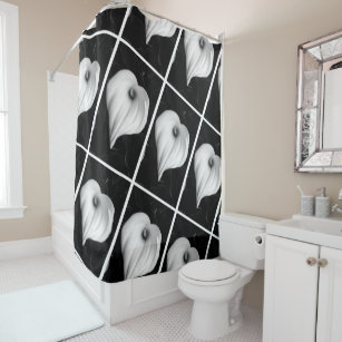 Black And White Calla Lilies Shower Curtain