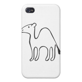 Black and White Camel in Sketch Form iPhone 4/4S Case