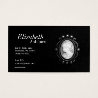 Black and White Cameo Silhouette Business Card 2