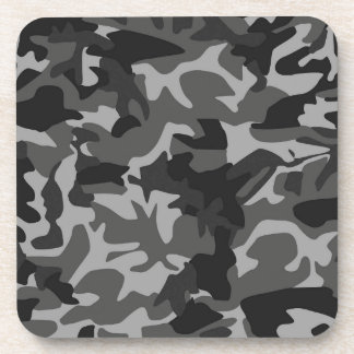black and white camouflage coasters