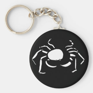 Black and White Cancer Keychain