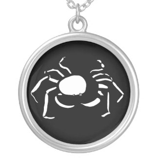 Black and White Cancer Necklace