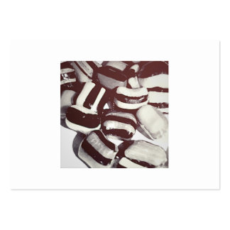 """BLACK AND WHITE """"CANDY"""" BUSINESS CARDS"""