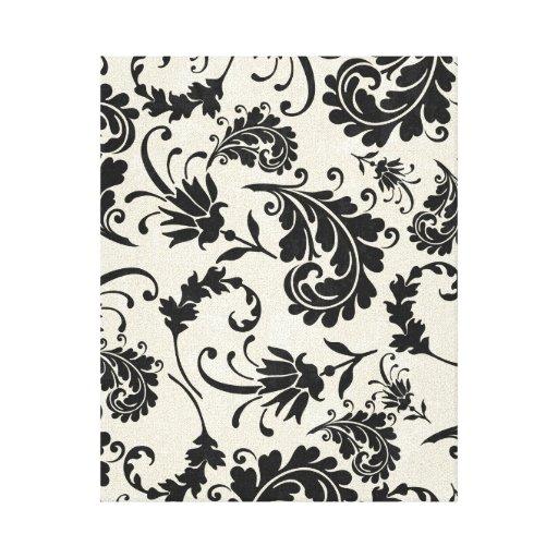 Black and white canvas canvas prints zazzle Black and white canvas art