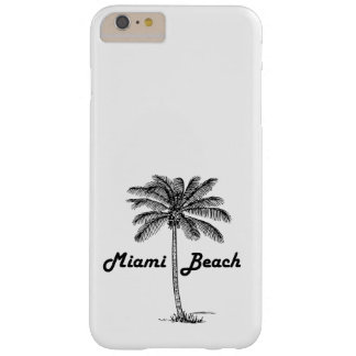 Black and White Cape Coral & Palm design Barely There iPhone 6 Plus Case