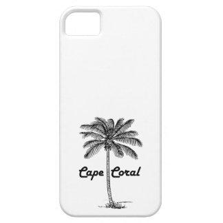 Black and White Cape Coral & Palm design iPhone SE/5/5s Case