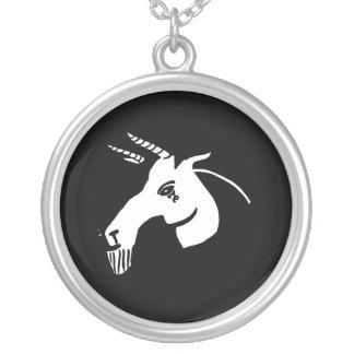 Black and White Capricorn Necklace
