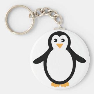Black and White Cartoon Penguin Keychain