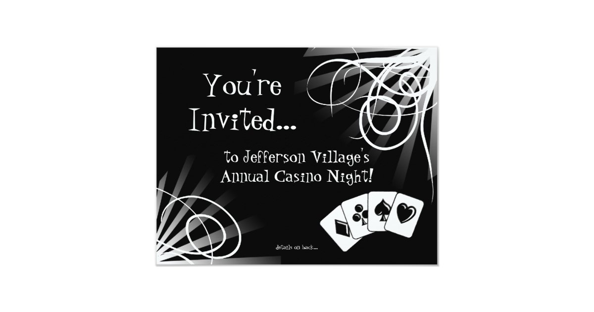 Casino Night Invitations & Announcements | Zazzle
