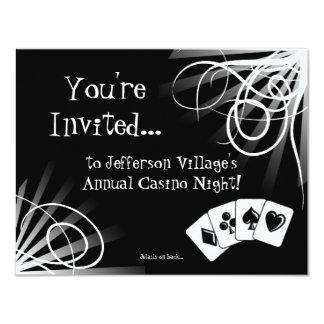 Black and White Casino Night Invitation