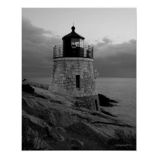 Black and White Castle Hill poster