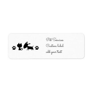 black and white cat and dog logo label