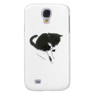 Black and White Cat Art Galaxy S4 Case