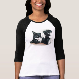Black and White Cat Art Shirt
