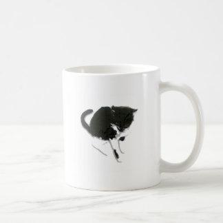 Black and White Cat Artwork Coffee Mug