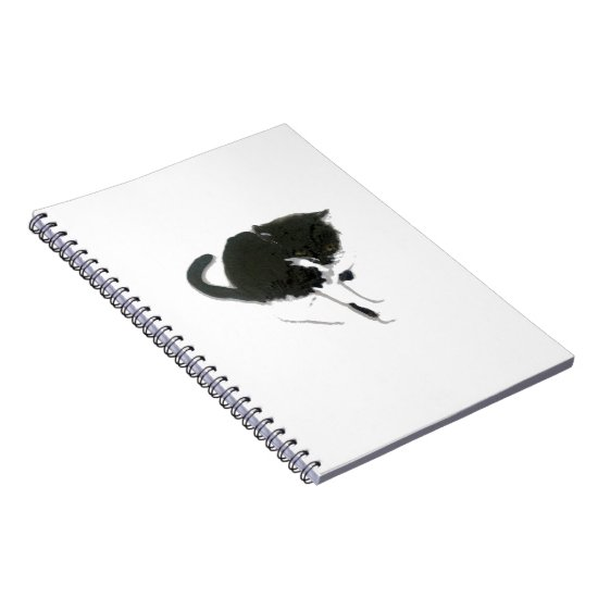 Black and White Cat Artwork Notebook