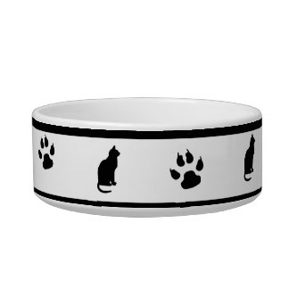Black and White Cat Bowl