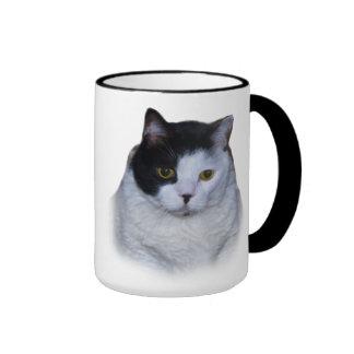 Black and White Cat, Customizable Mug