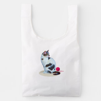 Black and White Cat, Customizable Reusable Bag