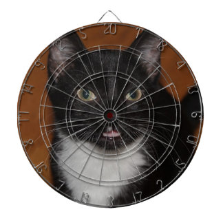 BLACK AND WHITE CAT DART BOARDS