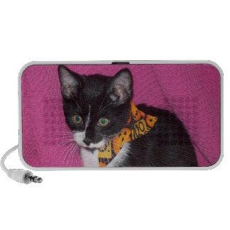 Black and White Cat Doodle Speaker System