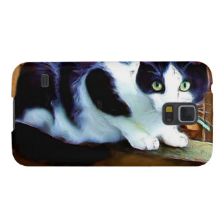 Black and White cat Galaxy S5 Case