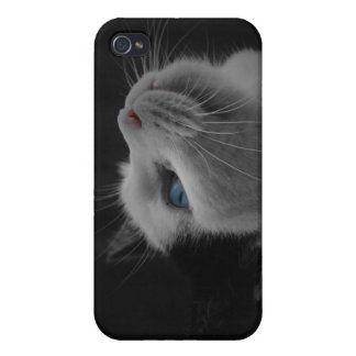Black and White Cat iPhone 4 Case