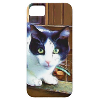 Black and white cat  iPhone 5 Case-Mate phone case