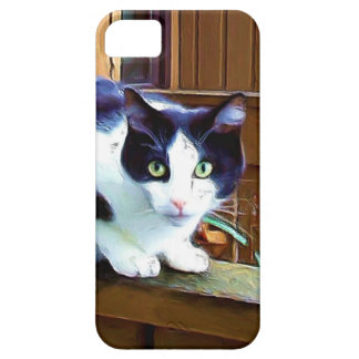 Black and white cat iPhone SE/5/5s case