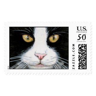 Black and White Cat - Large Postage