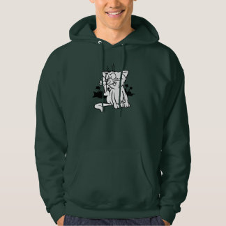 Black And White Cat Mens Hoodie