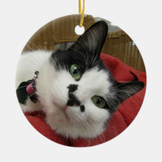 Black and White Cat Christmas Ornaments