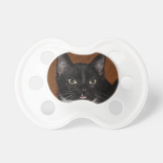 BLACK AND WHITE CAT PACIFIER