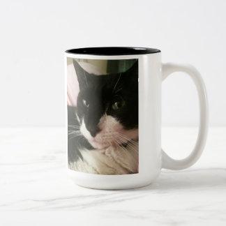 Black and white cat photo mug