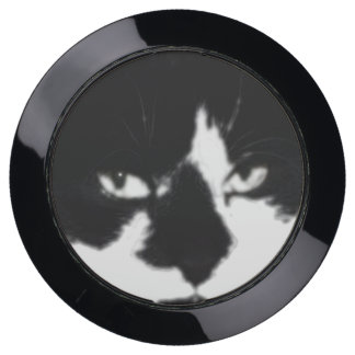 Black and White Cat Photography USB Charging Station