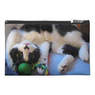 Black and white cat - playful cat - Funny cat Travel Accessory Bag