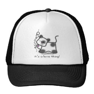Black and white cat RESCUE...it's a love thing! Trucker Hat