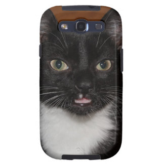 BLACK AND WHITE CAT SAMSUNG GALAXY SIII CASE