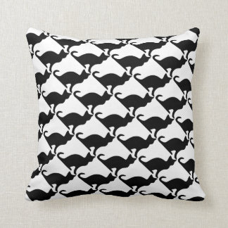Black and white cat throw pillow | Home decoration
