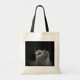 Black and White Cat Tote Bags